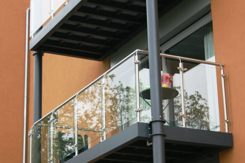 Double balcon alu et bois