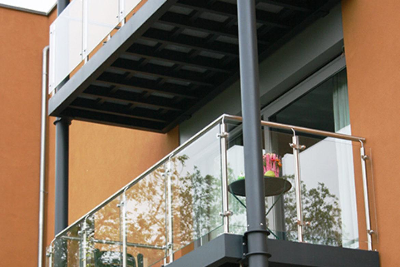 Double balcon alu et bois_quat+_front