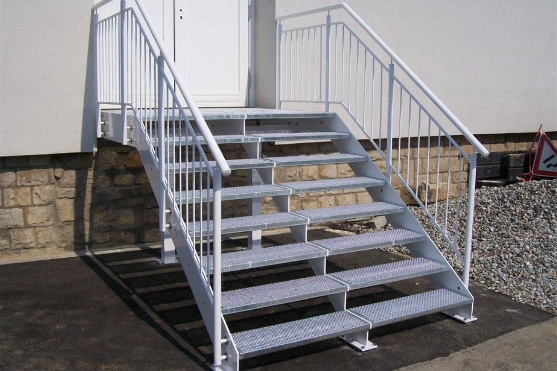 Escalier extérieur double en plat 2