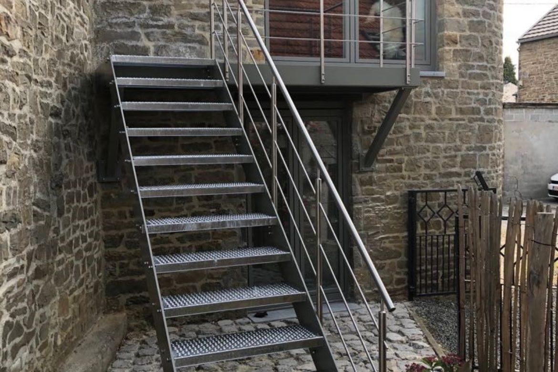 Escalier extérieur en plat 5