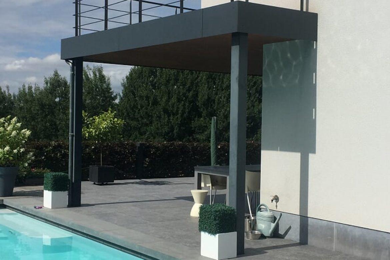 Terrasse métallisé
