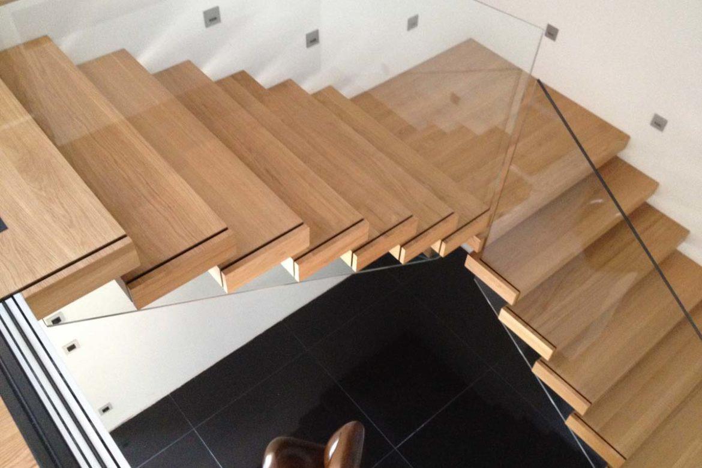 Verre sécurit sur escalier sans main courante 2